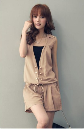 2012 newest Korean women clothes silk Cotton V-neck large size high waist dress tuxedo