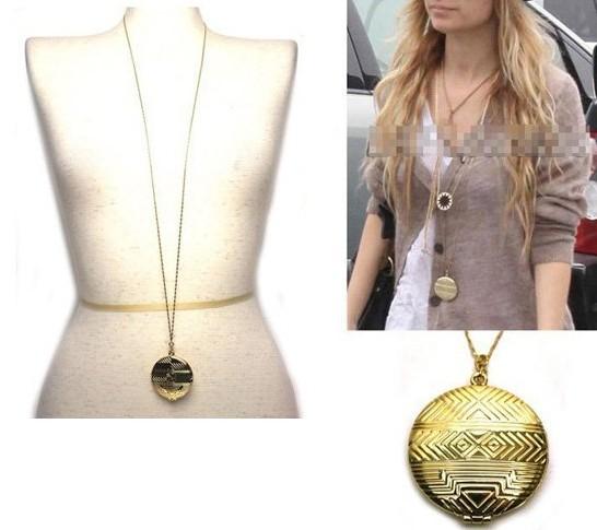 Necklace gold medallion locket pendant house of wholesale free free shipping necklacegold medallion locket pendanthouse of harlowfree shipping promotion aloadofball Gallery