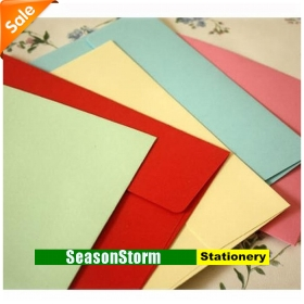 [CPA Free Shipping] Wholesale High Quality Colorful Gift Envelope Stationery 200pcs/lot (SP-96)