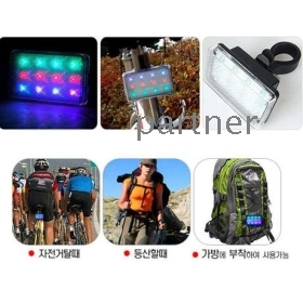 12LED Bicycle Colorful Warning Light Taillight, 12 Leds Bike Safety Rear Flash Caution Tail lamp Lights, EMS Free Shipping, 60pcs/lot
