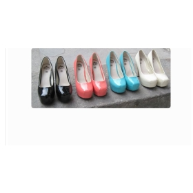 Free shipping Fahion Platform Pumps candy color block heel Sexy High Heels shoes girl's Shoes Dilys**1