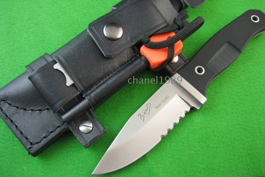 Bear Grylls FK97 Knife Saw Blade tactical knife camping Hunting Survival fixed Knife one/lot wholesale/retail free shipping