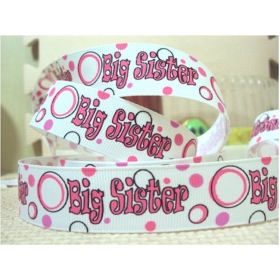 david ribbon 7/8 '' big sister grosgrain ribbon hairbows printed ribbon freeshipping