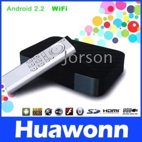 Android 2.2 Google TV WiFi HD Internet TV Box S5PV210 with Flash Player,Retail Box + Free Shipping+Drop Shipping