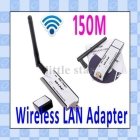 Mini USB Wireless LAN Adapter 150M 802.11N Wifi Adapter Wireless receiver with Detachable Antenna,Retail Box+Free Shipping      C588