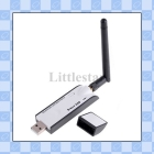 54M IEEE802.11 B/G USB Wireless Adapter Network Convertor Wifi Lan Adapter With External Antenna for PC    lc10586