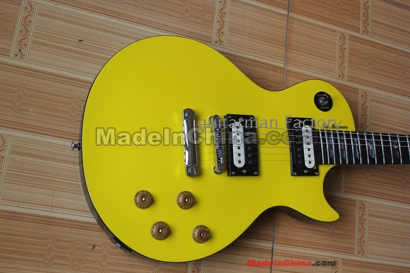 musical instruments yellow electric guitar wholesale. Black Bedroom Furniture Sets. Home Design Ideas