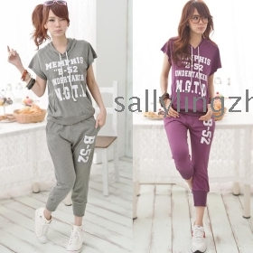 Free shipping women plus size seventh  leisure sport suit,ladies'sport suit,ladies' sport wear  2colour