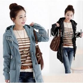 Long Windbreaker Jackets For Womens QIFv69
