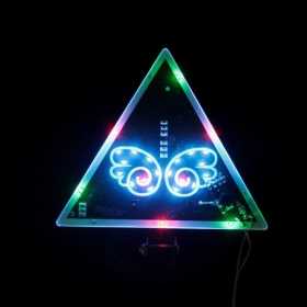 Car Electronics light bars Triangle Butterfly Pattern LED Colorful Car Warning Light New