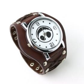 Jewelry and watches Punk Gothic Ladies Women Men Gens' Genuine Leather Wrist Watch