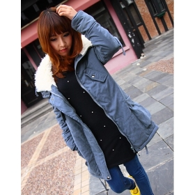 Wholesales Fashion Women Wool coat Slim trench coat winter clothes outerwear overcoat outdoor warm Jacket