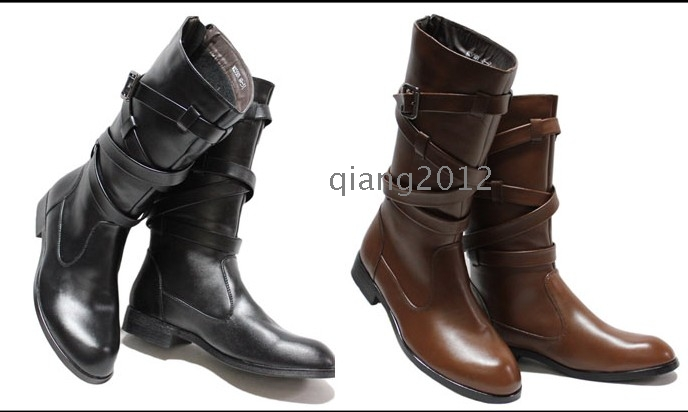 2012 fashion korean men s boots cowboy boots � wholesale