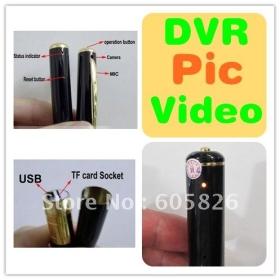 50piece Wireless Pen Camera HD DVR 720P Covert Hidden Camera Mini DVR 30FPS Digital Portable Camera Video Recorder MIC Free Shipping