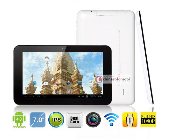 window n70 dual core yuandao tablet pc 7 inch ips android 4 0 ips rk3066 mali400 mp4 1gb ram hdmi have