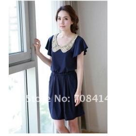 2013 new arrival women summer fashion Romantic Ruffle sleeve waist tight chiffon dress women/free shipping/promotion