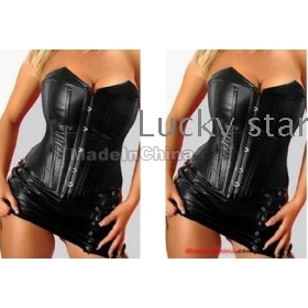VCorset leather garment really cortex of palace exercise selfcontrol model body dress attire waist corsage DS steel tube stage performance clothing