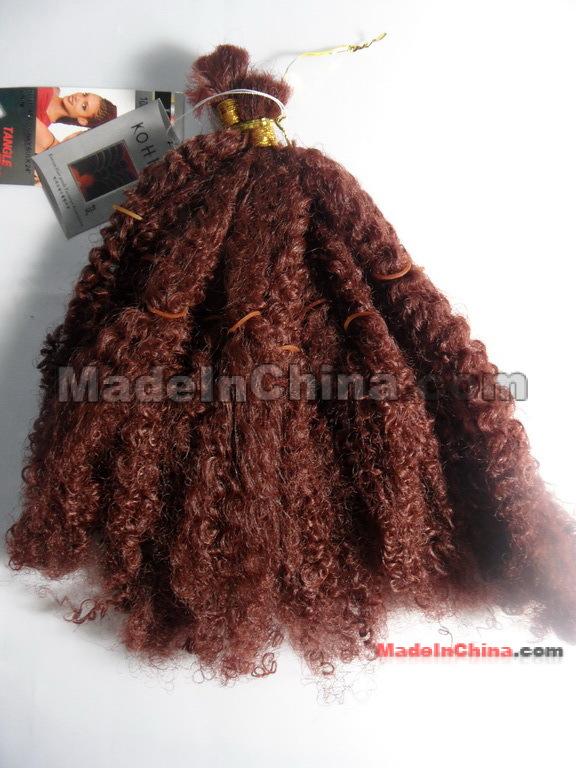 Kinky Hair Weave Bulk Triple Weft Hair Extensions