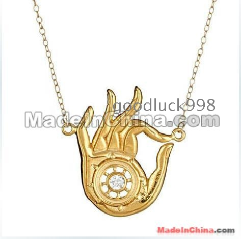 Star of david hamsa hand amulet pendant necklace for Star of david jewelry wholesale