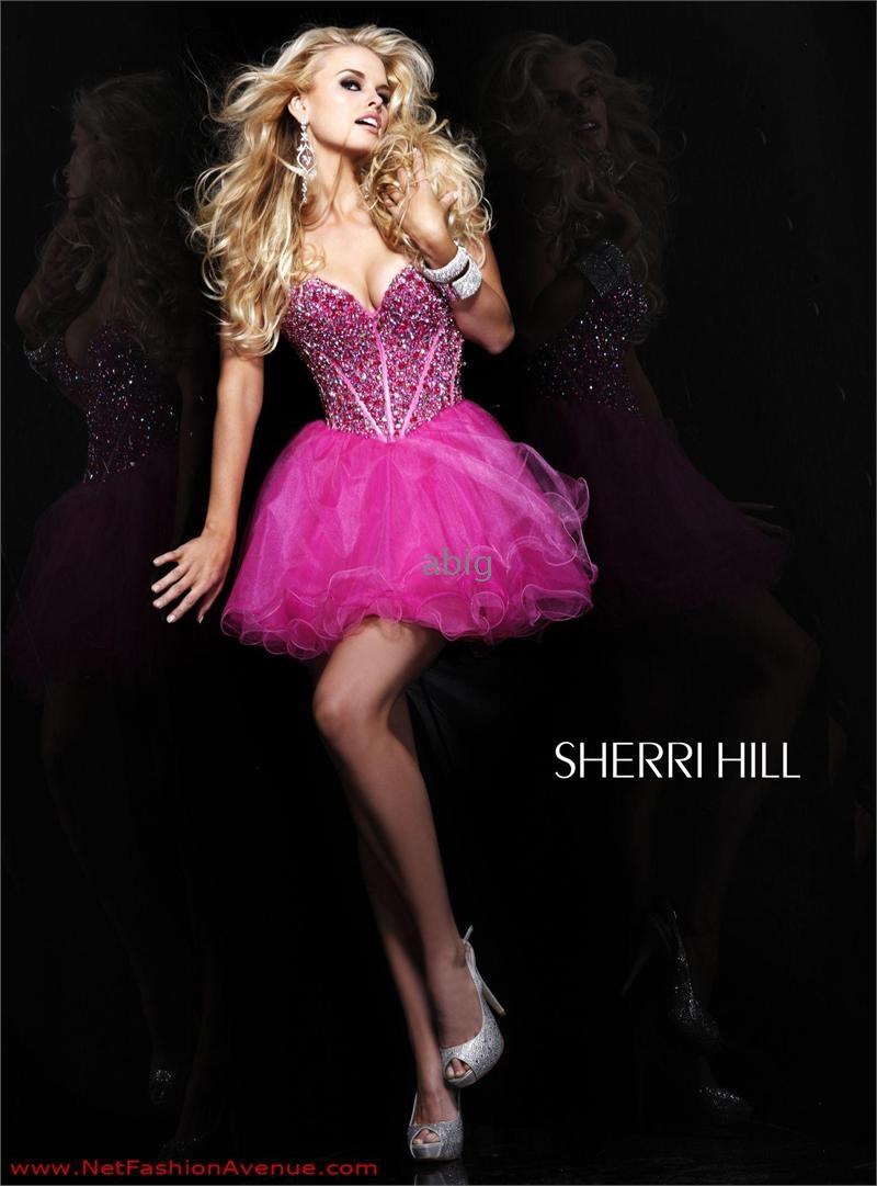 2012 Strapless Short Babydoll Corset Prom Dress