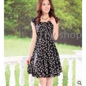 Han edition new summer dress joker fair maiden cultivate one's morality ms broken beautiful snow spins dress
