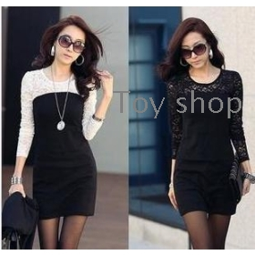 Han edition bud silk joining together contracted cultivate one's morality show thin dress dress