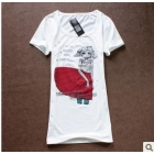 Girl women in yards long summer show thin leisure loose short sleeve cultivate one's morality T-shirt