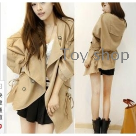 New women's clothing qiu dong outfit select han edition of big temperament with dust coat long sleeve loose a coat