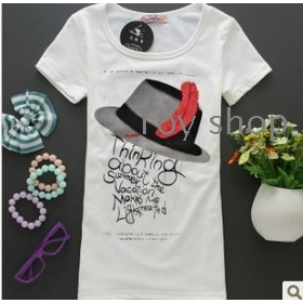 The new spring summer wear short-sleeved cotton han edition dress t-shirts students cultivate one's morality