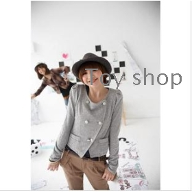 New product qiu dong women's long sleeve double-breasted small coat