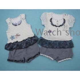 free shipping   Children's wear cotton short sleeve shorts suits T-shirt two-piece outfit