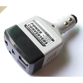New Car Charger DC 12V / DC 24V to AC 220V Power + USB DC 6V 500mA Inverter Adapter