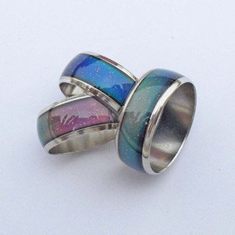 quality - mixed size 100pcs Color Changable Mood Ring free shipping