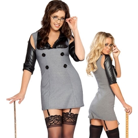 Lady Sexy Plus Size Naughty Principal Cosplay Costume Role Play Game Uniform S8384P