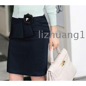 2012 new han edition fashion commuter career bag hip black/gray female bust in the skirt