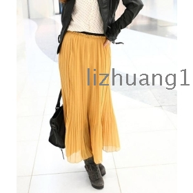 The new spring and summer bag han edition a great plait chiffon skirt Bohemian bust skirt mopping the floor long skirt