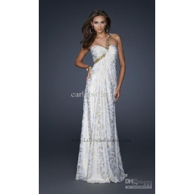 New Arriva sexy one-shoulder white beadings Evening Dresses