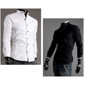 Buy Mens White Shirt Men Long Sleeve Shirt Fashion Casual Designer ...