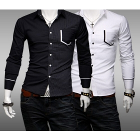 Wholesale - Casual Long Sleeve High Quality Men's Pur Cotton Shirt