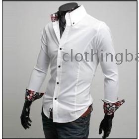 Men's caucal long sleeve Dress Shirts business Dress Shirts Free Shipping