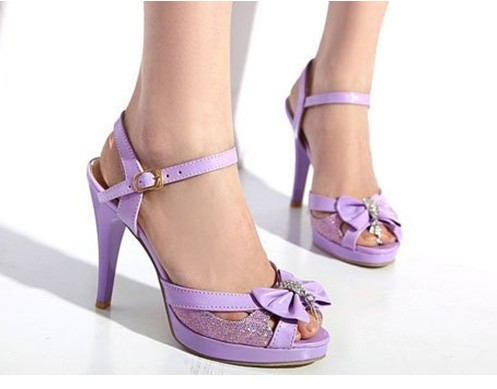 Shoes: purple women's shoes, high heels, sexy shoes - Wheretoget