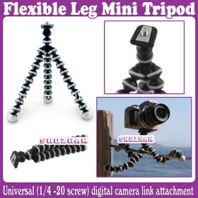 Gorillapod Type Flexible Leg Mini Tripod for Digital Camera (Small Size)_Free Shipping