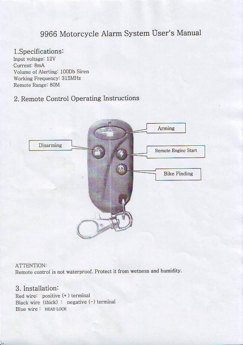 motorcycle safety security vibration sensor alarm