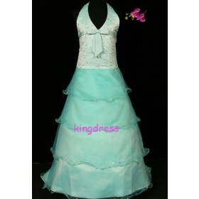 Fashion 2013 Cute Sell Light Blue Flower Girls Dresses Dancing Party