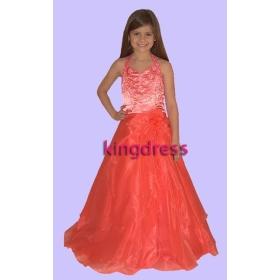 Fashion 2013 Cute Sell Orange Flower Girls Dresses Dancing Party