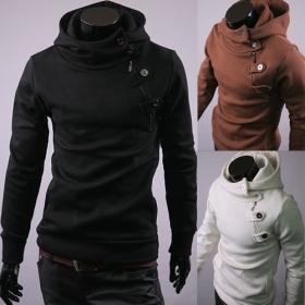 2012Free shipping Men's Jacket Zippered Cardigan Hoodie Casual Coat Sweatshirt Big Mask Design