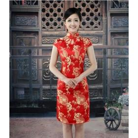 f613edc59841 Cheongsam Bride Silk Red Wedding Buy Chinese Qipao New Dress odWrxeECBQ