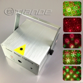 Free Shipping NEW Mini twinking 8 in 1 laser stage lighting with sound control TD-GS-50