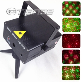 Free Shipping NEW Mini twinking 8 in 1 laser stage lighting with sound control TD-GS-49