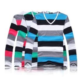 Free shipping 2012 fashion mens t shirts 100% cotton casual long sleeve t shirts high quality slim men's t shirt 3 colors